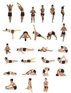 Postures yoga bkram