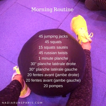 routine sportive