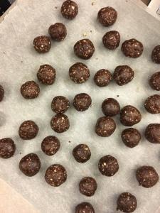 Energy balls granola running