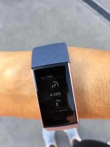 Test de la charge 3 Fitbit